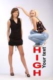 Pessoa alta e curta Foto de Stock