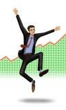Pessoa bem sucedida Fotos de Stock