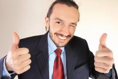 Pessoa bem sucedida nova do negócio fotos de stock