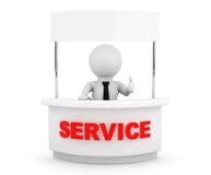 Pessoa com suporte vazio do serviço Imagens de Stock Royalty Free