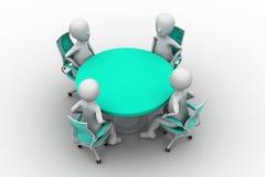 pessoa 3d em uma tabela de conferência Fotografia de Stock