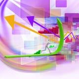 pessoa 3d que corre acima a seta de aumentação verde Imagem de Stock Royalty Free