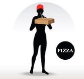 Pessoa da entrega da pizza Imagens de Stock