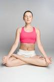 Pessoa da ioga Fotografia de Stock Royalty Free