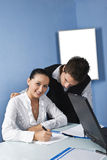 Pessoa de dois negócios em um escritório Fotografia de Stock