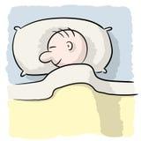 Pessoa de sono Imagem de Stock Royalty Free