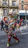 Pessoa disfarçada - Carnaval de Paris 2018 imagens de stock royalty free