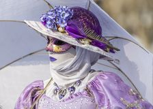 Pessoa disfarçada - carnaval Venetian 2013 de Annecy Imagem de Stock Royalty Free