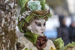 Pessoa disfarçada - carnaval Venetian 2013 de Annecy Foto de Stock Royalty Free