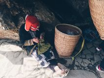"""Pessoa  do á do  de Dao Ä do"""", Sapa, Vietname Imagem de Stock"""