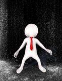 Pessoa do homem de negócios na chuva Imagens de Stock
