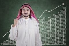Pessoa do Oriente Médio bem sucedida com carta Foto de Stock Royalty Free