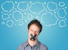 Pessoa engraçada com boca gravada Fotografia de Stock