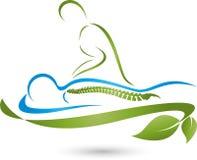 A pessoa faz o fundo da massagem, da ortopedia e da medicina ilustração stock