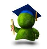 Pessoa graduada com diplom ilustração royalty free