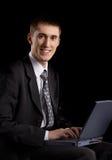 Pessoa masculina caucasiano no fundo Fotografia de Stock Royalty Free