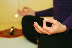 Pessoa na posição da ioga Imagem de Stock Royalty Free