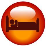 Pessoa no ícone da cama Imagem de Stock Royalty Free