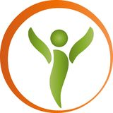 Pessoa no movimento, na aptidão e nos esportes, logotipo dos naturopaths ilustração do vetor