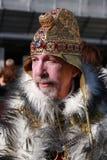 Pessoa no traje do ` s do rei no carnaval em Veneza, Itália Foto de Stock