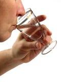 Pessoa para beber o líquido fotografia de stock