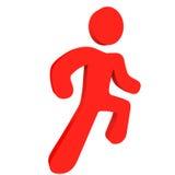 Pessoa Running vermelha Fotos de Stock Royalty Free