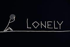 Pessoa só, pessoa desesperada, conceito incomum Imagem de Stock