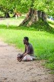 Pessoa tradicional em Sri Lanka foto de stock