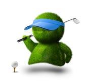 Pessoa verde bonito que joga o golfe Ilustração Royalty Free
