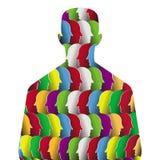 A pessoa virtual Fotos de Stock