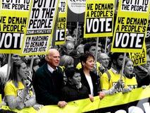 Pessoa voto o 23 de março março de 2019 foto de stock