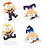 Pessoais do escritório dos desenhos animados Fotos de Stock