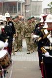Pessoal da brigada de comando 3 com uma faixa Fotos de Stock Royalty Free