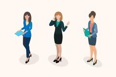 Pessoal de escritório das mulheres de negócio ilustração royalty free