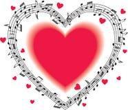 Pessoal musical com notas ilustração do vetor