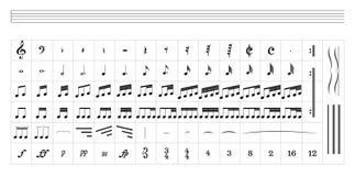 Pessoal padrão da música Imagem de Stock Royalty Free