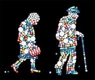 Pessoas adultas dos comprimidos das tabuletas Fotografia de Stock Royalty Free