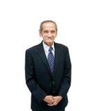 Pessoas de 84 anos do homem isoladas no branco Imagem de Stock Royalty Free