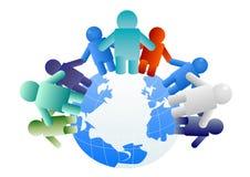 Pessoas em todo o mundo Foto de Stock Royalty Free