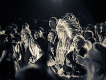 Pessoas idosas maias no ritual Imagens de Stock