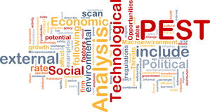 PEST analysis background concept Royalty Free Stock Photography