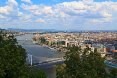 Pest of Budapest. The Pest side of Budapest next to the Danube Royalty Free Stock Image