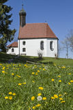 Pest chapel in flower meadow Stock Images