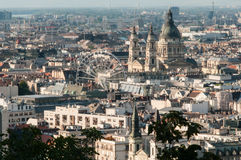 Pest Cityscape, Budapest, Hungary Royalty Free Stock Images