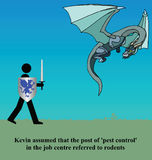 Pest control. Kevin assumed pest control referred to rodents Royalty Free Illustration