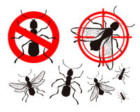 Pest control, ant icons. vector illustration Royalty Free Stock Photo