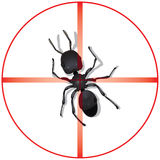 Pest Control Background. An illustrated background with a design meant for pest control service Royalty Free Stock Photos