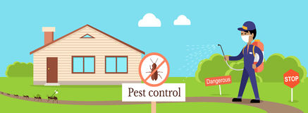 Pest Control Banner Royalty Free Stock Image