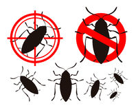Pest control or cockroach icon set. vector illustration Stock Photos