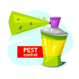 Pest control, concept design, vector illustration Royalty Free Stock Image
